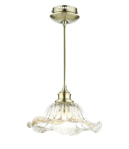 Aileen 1 Light Pendant Antique Brass (Class 2 Double Insulated) BXAIL0175-17
